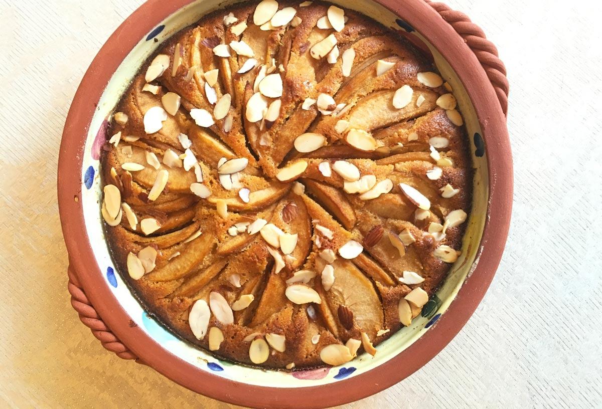 Easy Gluten Free Apple Almond Tart