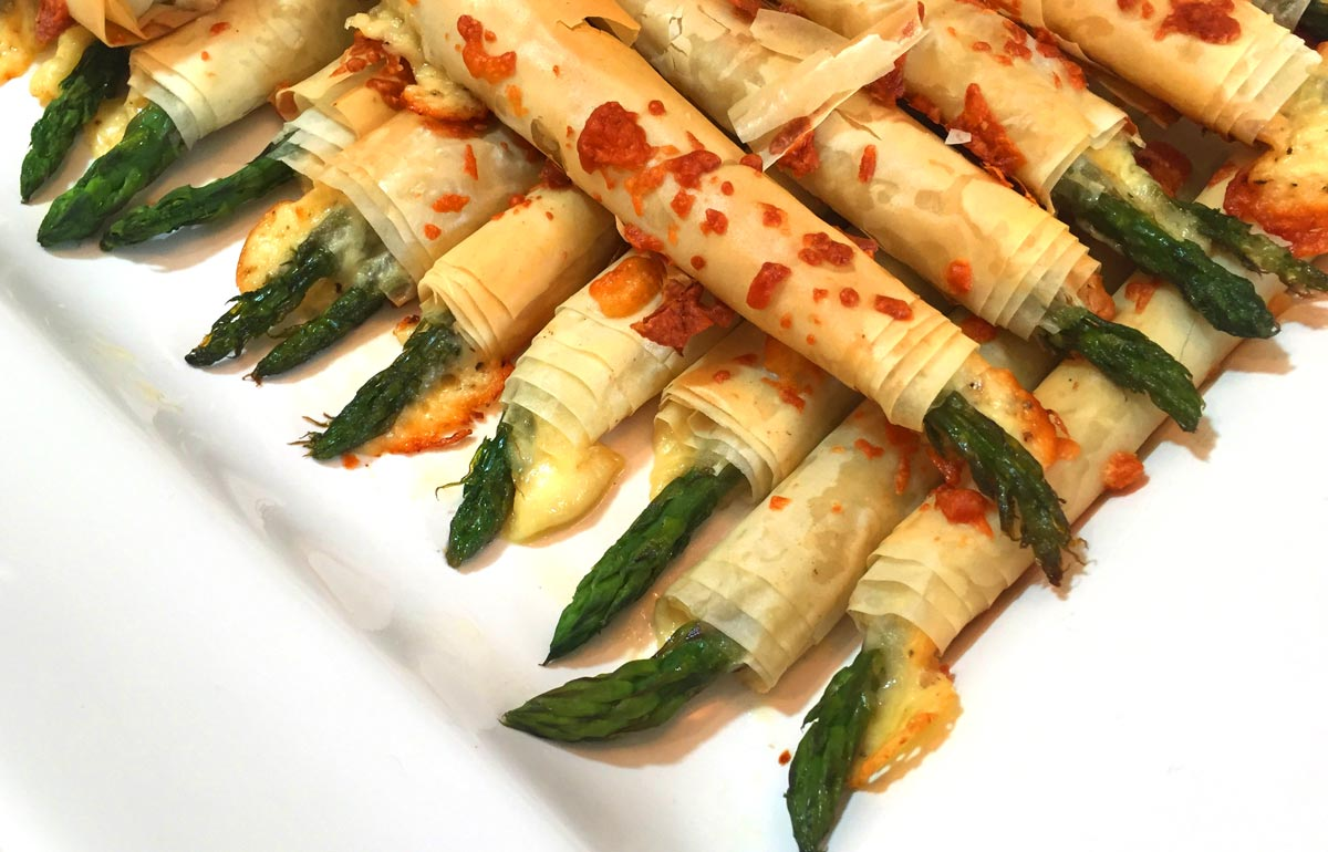 Asparagus in Filo Pastry