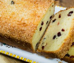 Gluten Free Lemon Cranberry Loaf