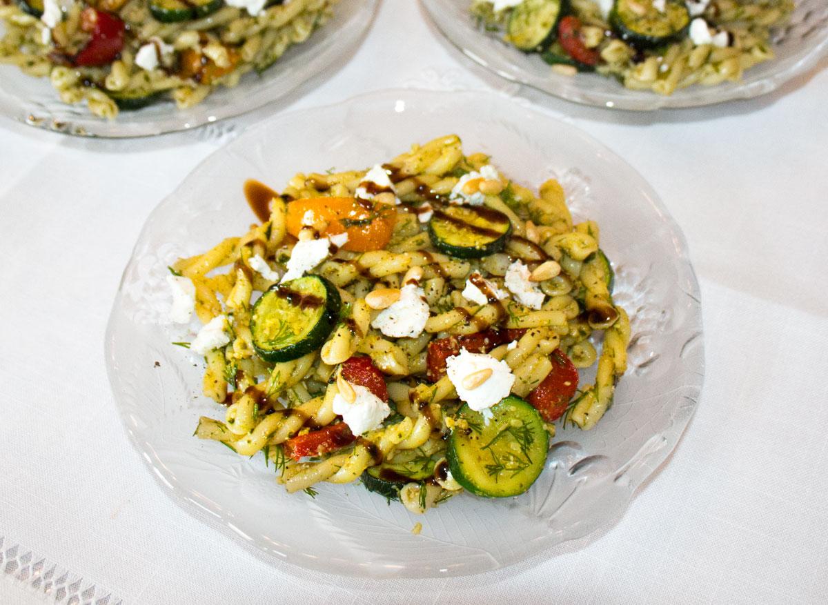 Lemon Basil Pesto Pasta Salad