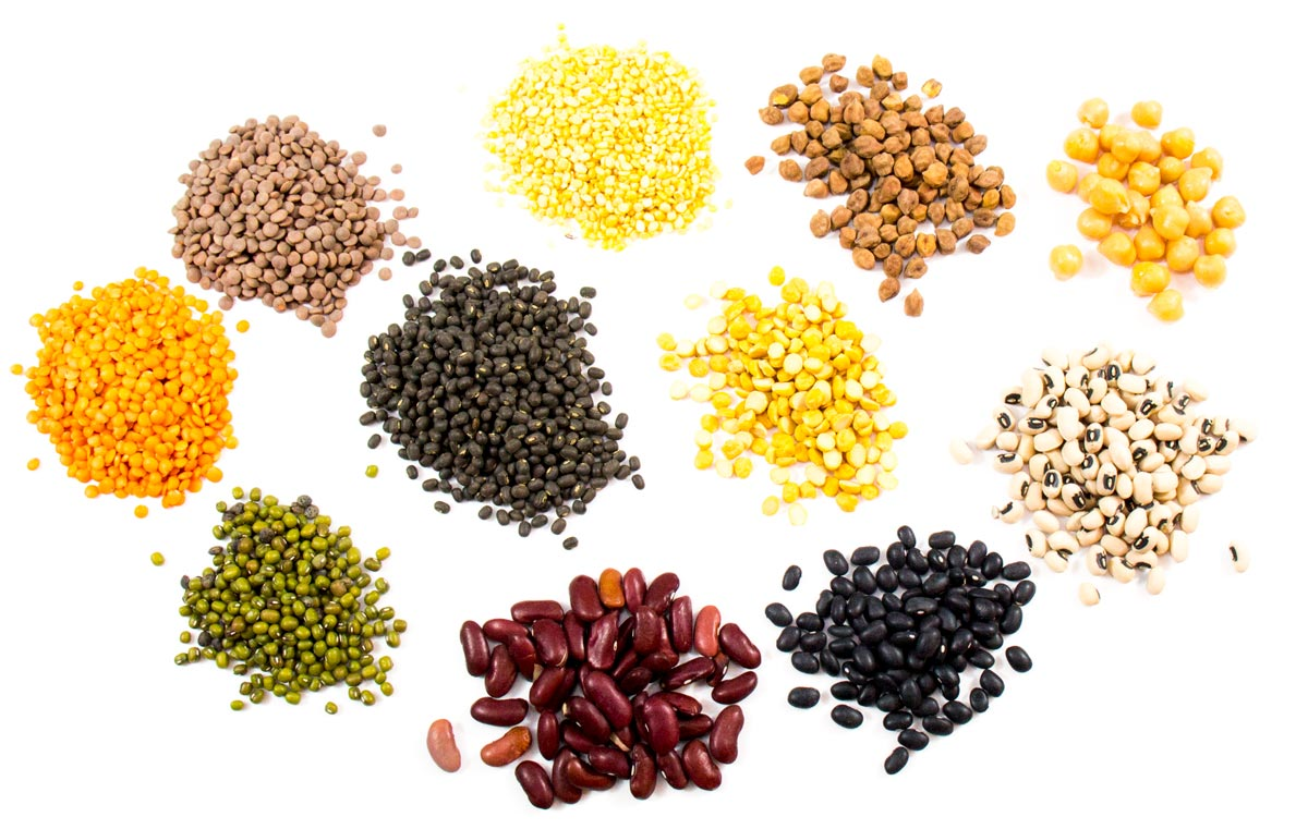 Many Indian vegetarian foods are made with lentils and pulses.