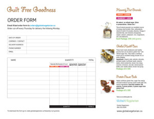 global vegetarian order form