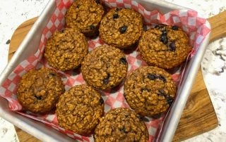 Healthy Oatmeal Banana Blueberry Muffins