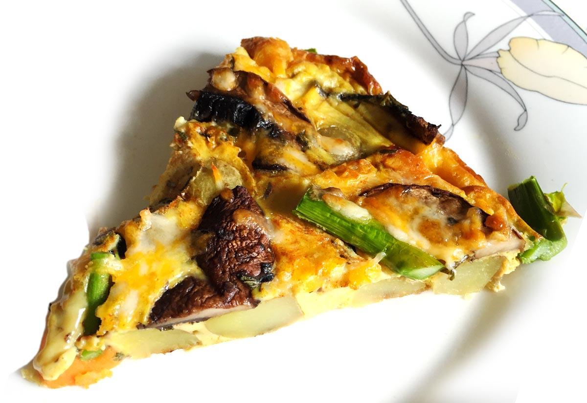Vegetable Frittata with Asparagus
