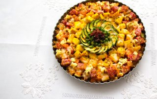 Roasted Veggie Tart with Potato Crust