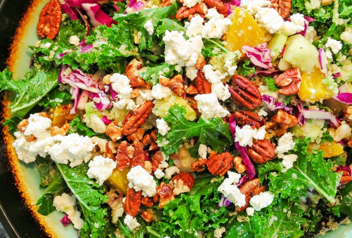 Rubbed Kale Avocado Salad