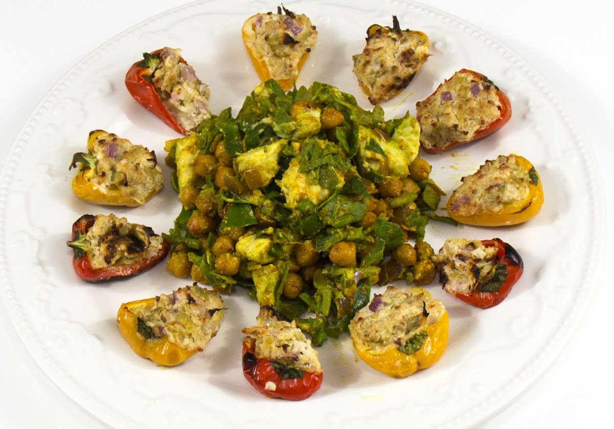 Stuffed Mini Peppers & Chickpea Salad