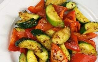 Zucchini Red Peppers Sauté