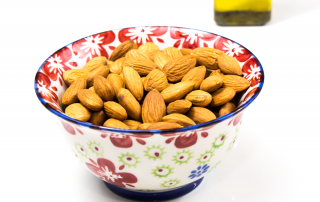 almonds and olive oil