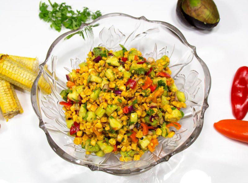 Cajun Grilled Corn Salad