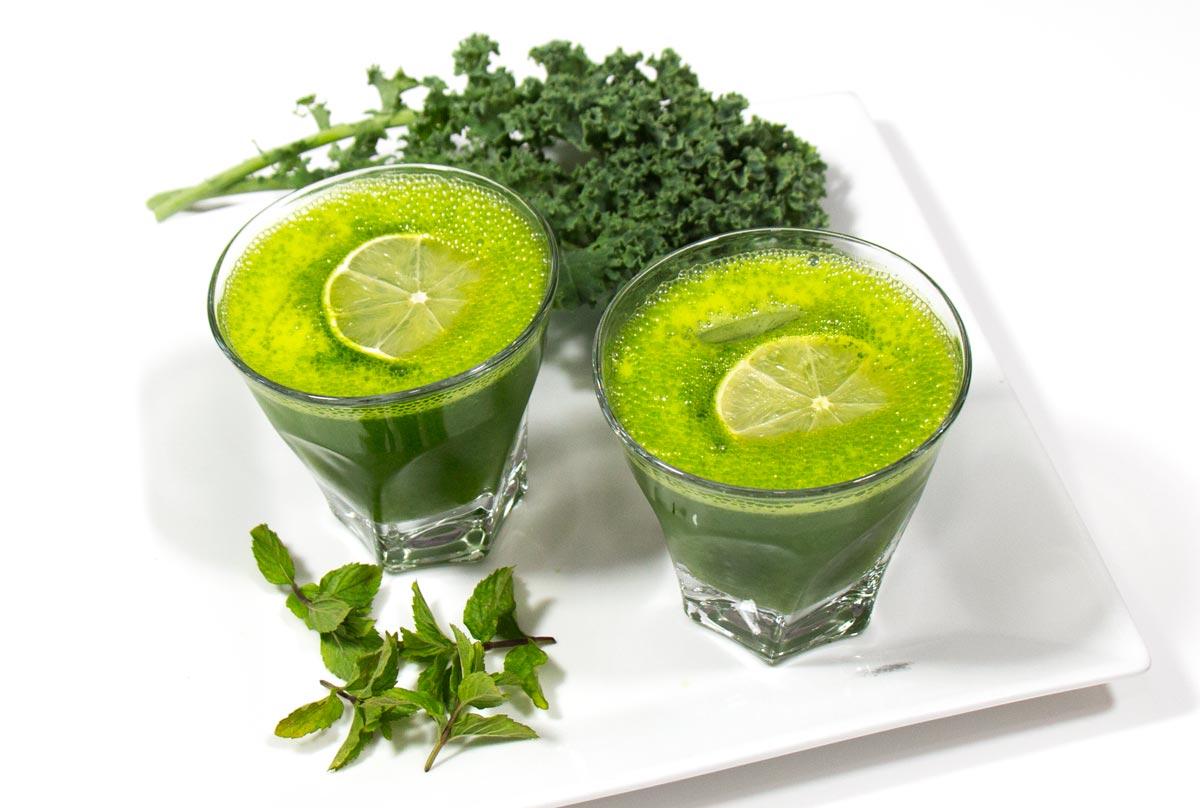 Mint Kale Lemonade