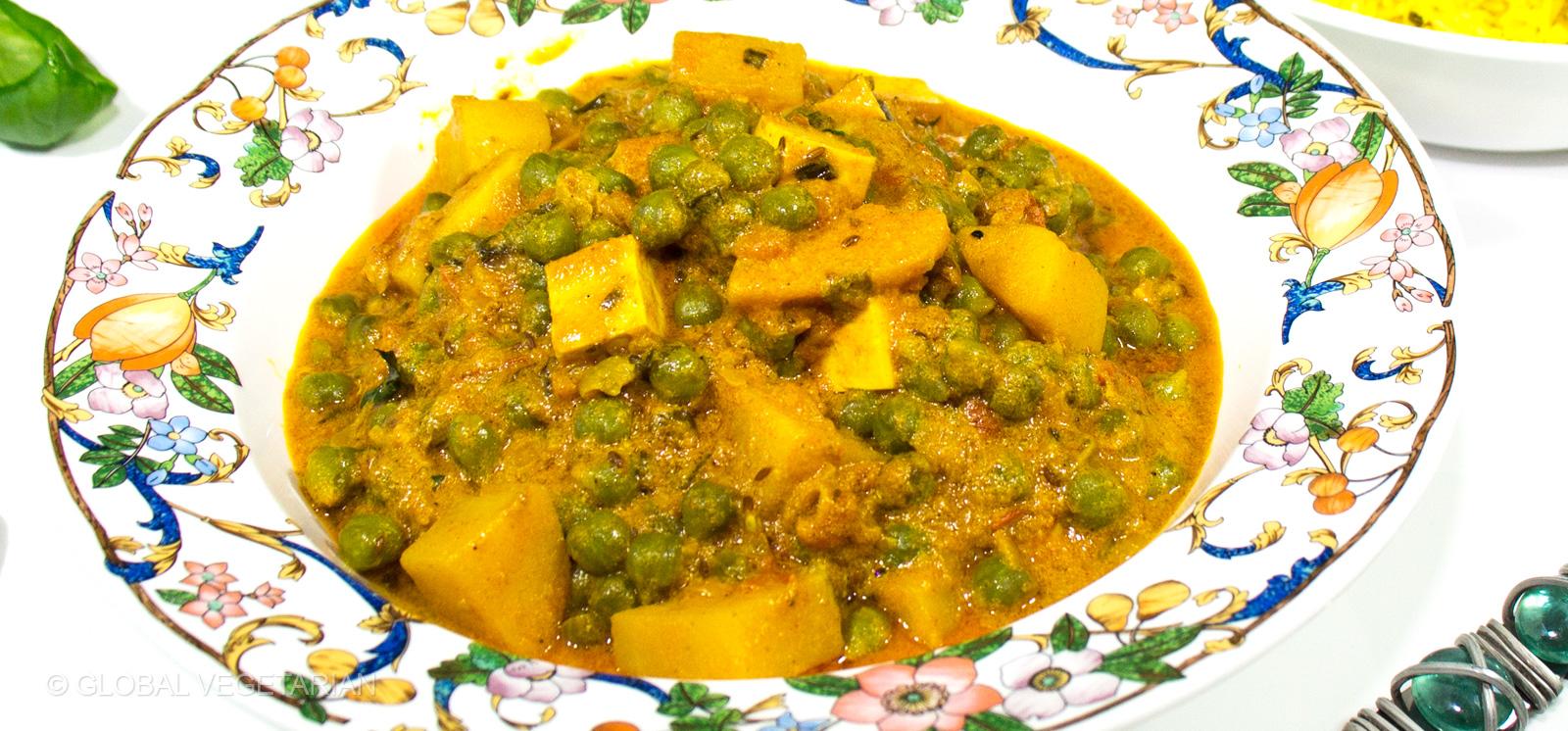 peas and paneer
