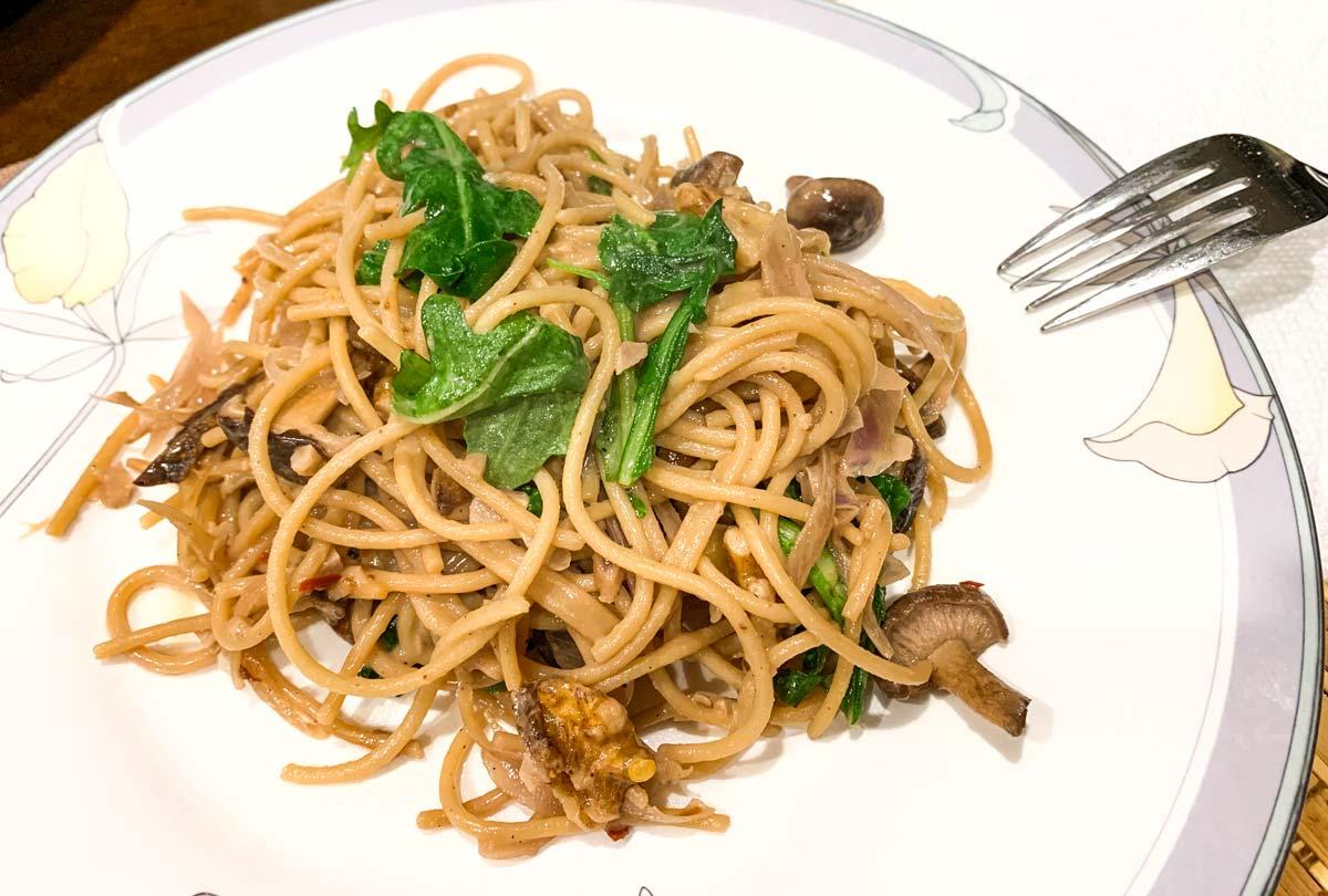 shiitake mushrooms pasta
